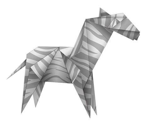 Origami White - free illustration origami zebra black and white free