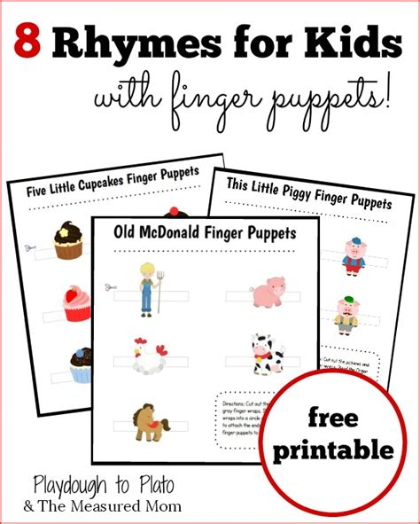 What Rhymes With Bed by 8 Rhymes For With Finger Puppets The Measured
