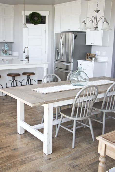 farmhouse kitchen table and bench diy farmhouse table and bench honeybear lane
