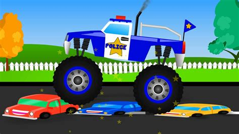 Monster Truck Stunt Monster Truck Videos For Kids M
