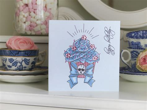 blue ribbon tattoo birthday wishes handmade cards by vickilicious