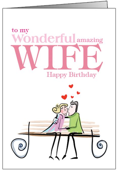printable birthday cards for a wife happy birthday cards for wife printable funny romantic