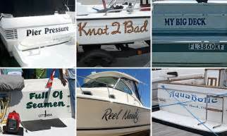 boat picture puns boats with the wittiest names on the water daily mail online