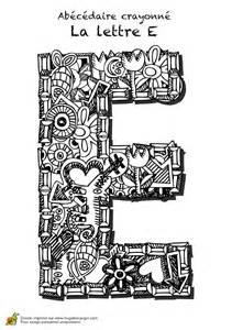 coloriage abecedaire crayonne lettre e sur hugolescargot