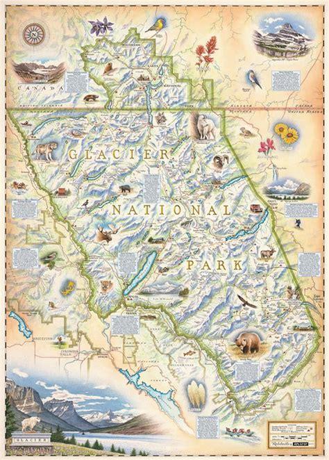 map of glacier national park glacier national park map national park map xplorer maps montana