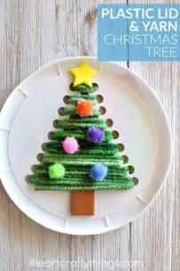 plastic lid christmas tree sewing craft i heart crafty
