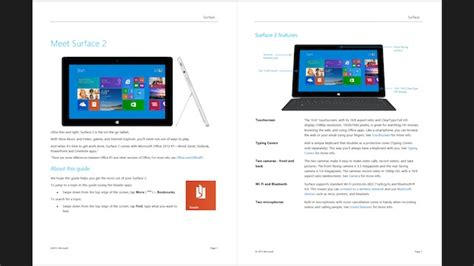 microsoft surface user guides available for