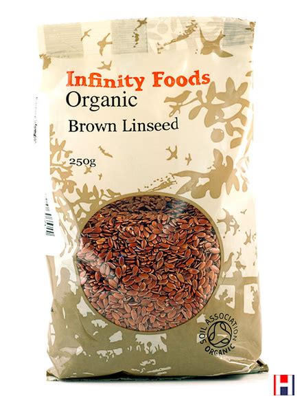 Brown Flaxseed 250 Gr whole brown flaxseed 250g organic infinity foods healthysupplies co uk buy