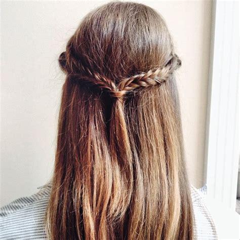 half up half wedding hair with fishtail braid by