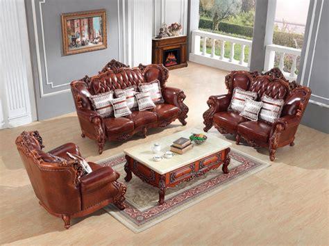 European Sofa Resin Frame luxury european leather sofa set living room sofa china