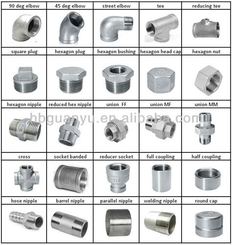 Plumbing Fittings Types by Stainless Steel Pipe Fitting Coupling
