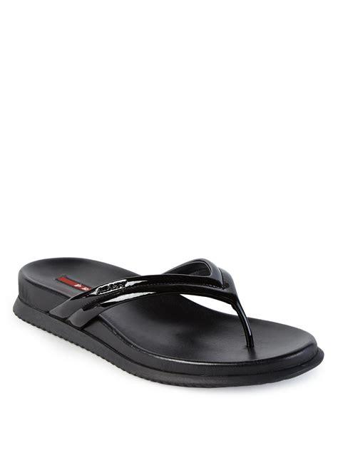 42403 Black Leather Flip Skirt prada patent leather flip flops in black lyst