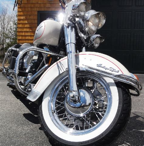 Harley Davidson White Silver 1 1994 harley davidson 174 flstn heritage softail 174 nostalgia white silver manchester new