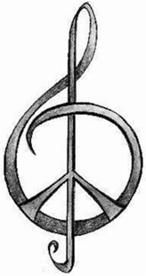 treble clef peace sign tattoo clipart best