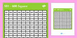 square squares numbers number visual aids maths