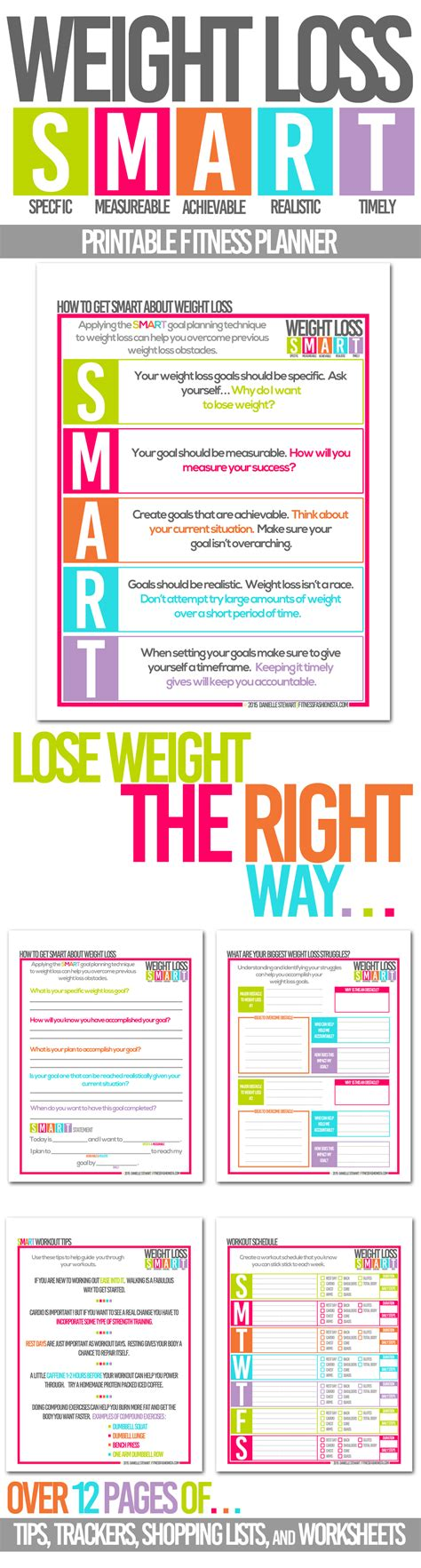 smart weight loss printable planner 8 best images of weight loss planner printable free