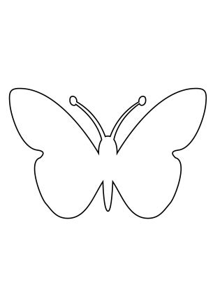 template of butterfly to print butterfly activities template
