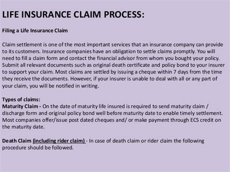 Insurance Maturity Letter insurance claims risk management