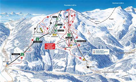 Appartamenti A Sillian by Mappa Delle Piste Sillian Thurntaler Alta Val Pusteria