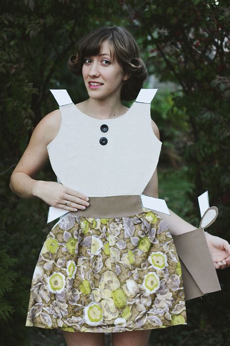How To Make A Paper Doll Costume - diy paper doll costume 187 the merrythought