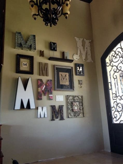 art on walls home decorating 40 creative monogram wall art ideas