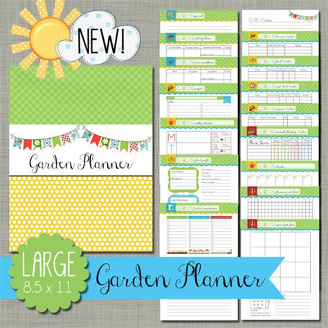 garden planner template garden planner printable set sized large 8 5 x 11