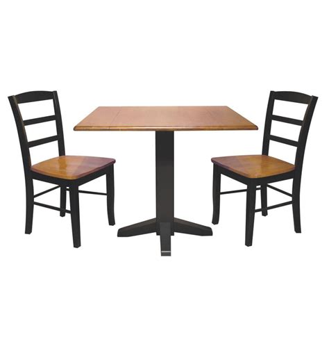 square dropleaf dining table bare wood fine