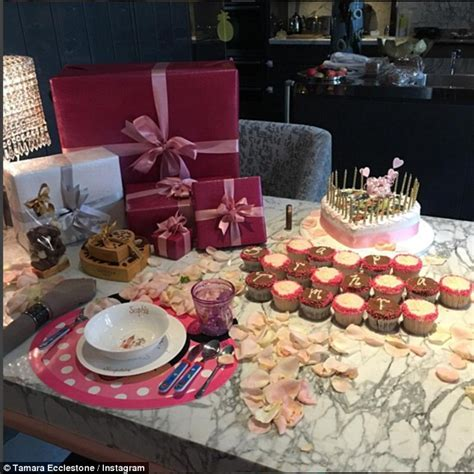 rose themed breakfast tamara ecclestone celebrates her 32nd birthday with plush