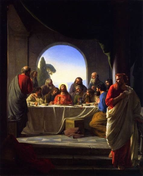 jesus christ   supper painting  christian fine