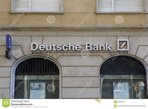 deutche bank spain deutsche bank editorial image image 66992520