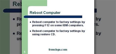 factory reset this computer restoring your pc to factory settings vista todaycubeeo