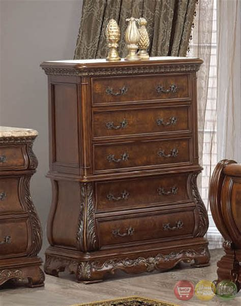 florence bedroom set florence traditional cherry sleigh bedroom set with stone