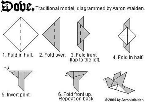 Easy Origami Dove - 15 best images about origami on bretagne