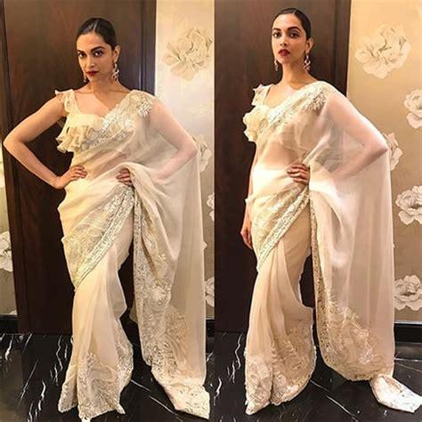 deepika padukone gold saree the gorgeous deepika padukone in saree