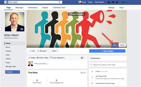 how to a fan page how to upload a cover photo to your fan page