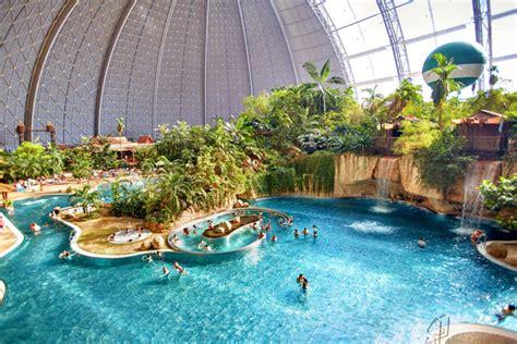 water park  germany built    military airship hangar   largest indoor rain