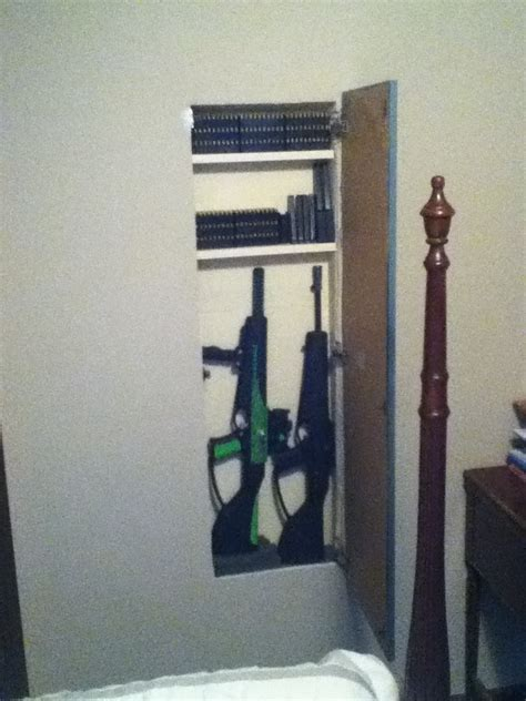 Safe Cabinet Hidden Gun Cabinet Open Diy Hidden Gun Storage