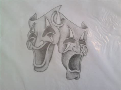 theater mask tattoo designs theater faces designs