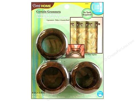 dritz home curtain grommets dritz home curtain grommets 1 9 16 in rustic brown 8pc