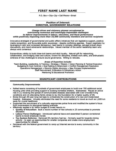 relations resume template director government relations resume template premium