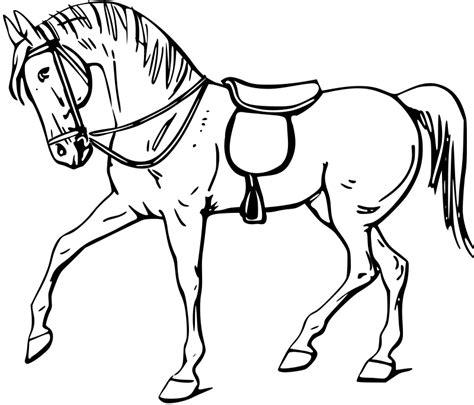 elsa horse coloring pages pobarvanka konja s sedlom