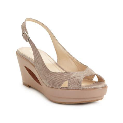calvin klein wedge sandals calvin klein rosaria slingback wedge sandals in beige