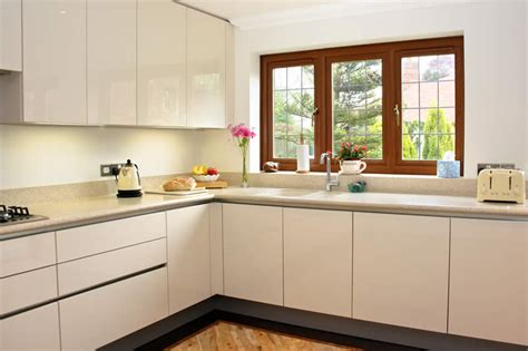 Design A Kitchen Island Online by High Gloss Cream Acrylic Kitchens