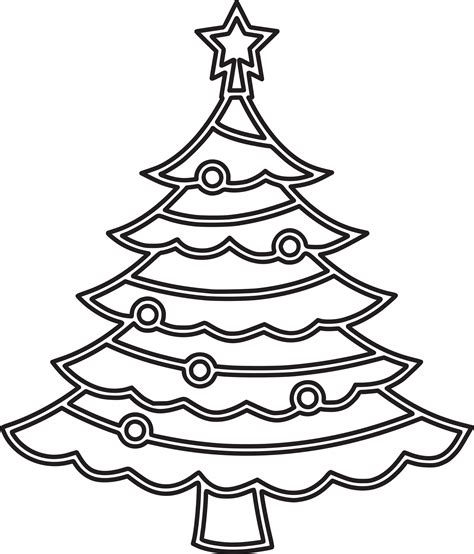 christmas wireframe sculptures clipart tree 6 outline