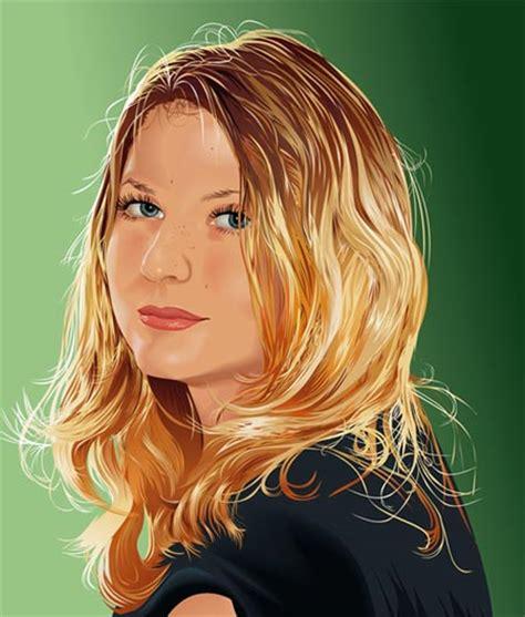 imagenes vectoriales para corel ilustraci 243 n vectorial de una chica rubia para descarga