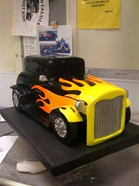 hot rod themes hot rod car birthday cake sculpted cakes pinterest