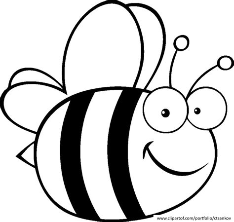 bee color bee coloring page bijen kleurplaten