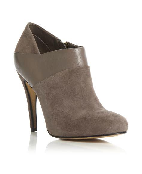 dune womens adonis taupe brown suede stiletto heel