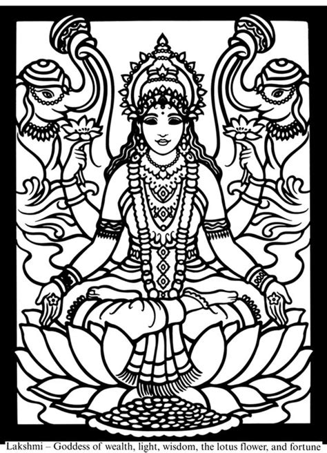 coloring pages of indian gods 89 best lakshmi images on pinterest deities goddess