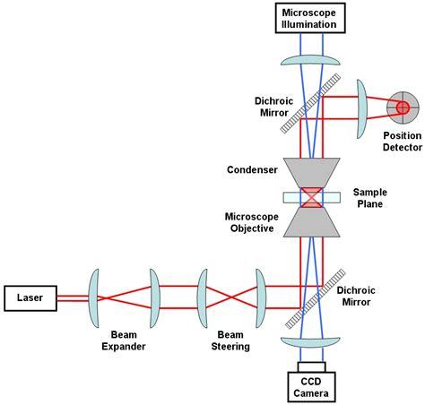 optical diagram optical tweezers